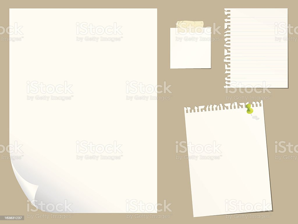 Blank paper set royalty-free blank paper set stock vector art & more images of business