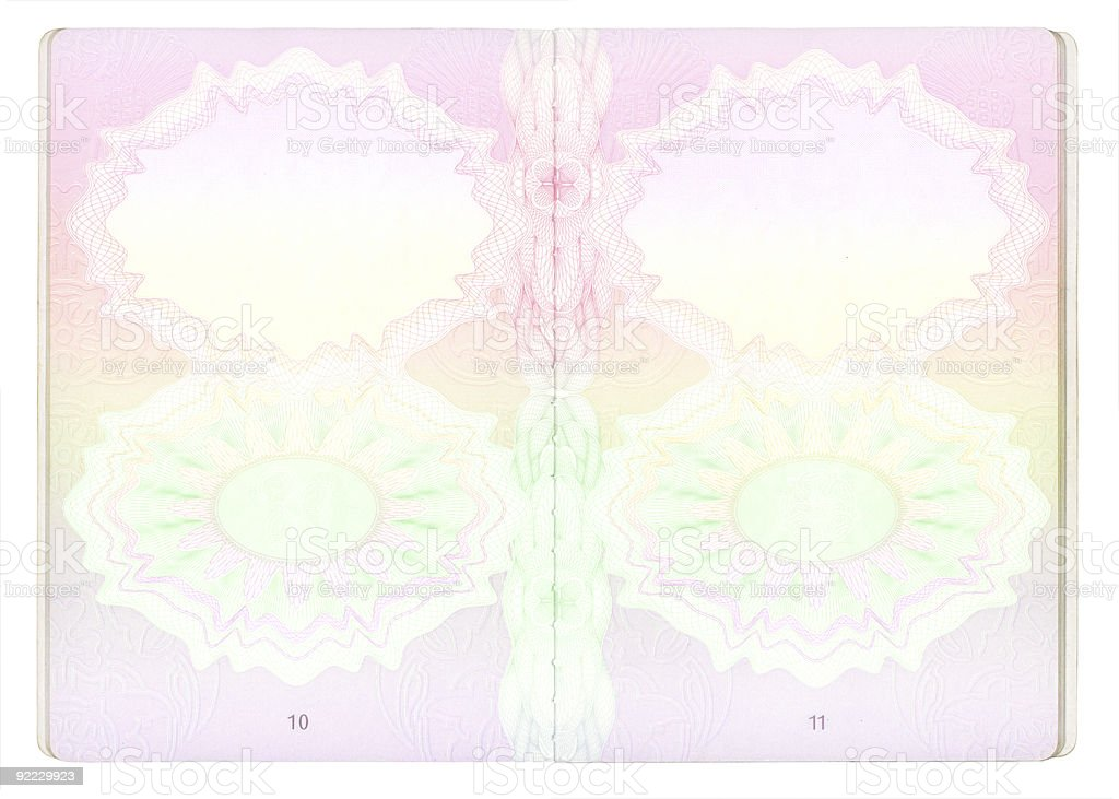 Blank Passport Pages Xxxl Stock Vector Art & More Images ...