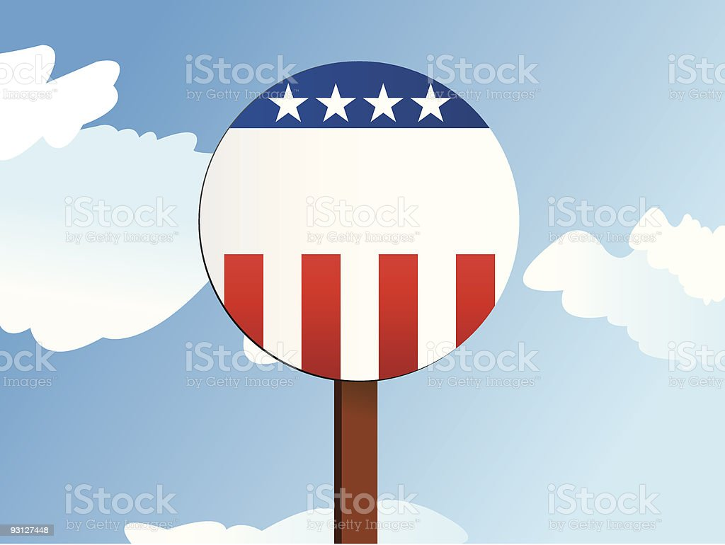 Blank Political Sign royalty-free stock vector art