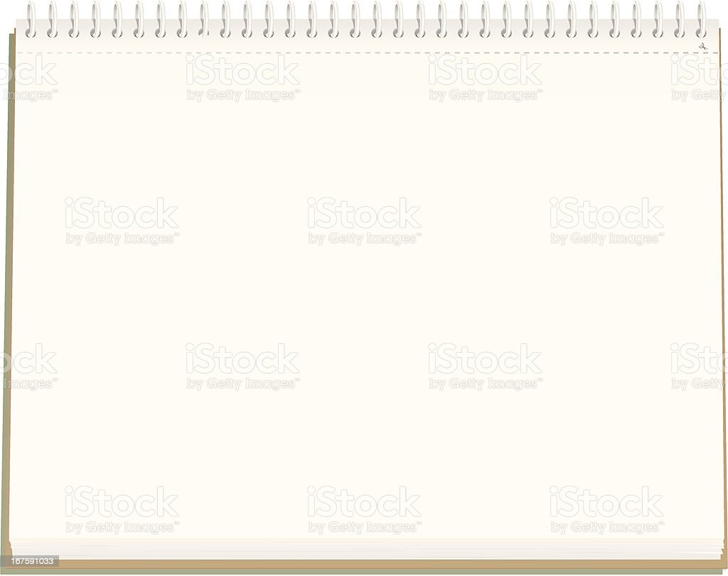 Blank Sketchbook vector art illustration