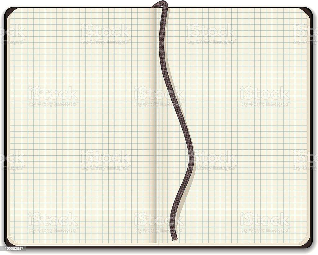Leere Skizzenbuch Mit Millimeterpapier Stock Vektor Art und mehr ...