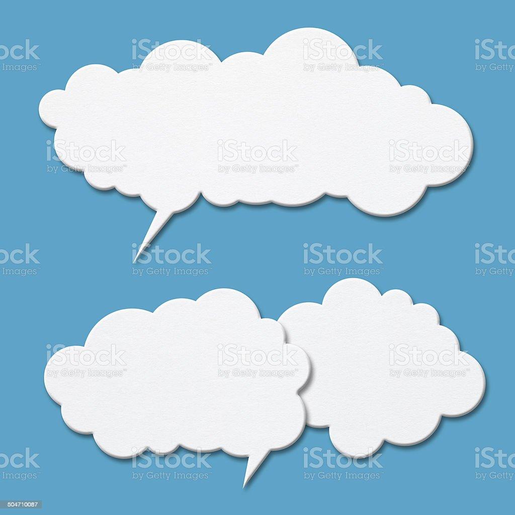 Blank speech bubbles vector art illustration