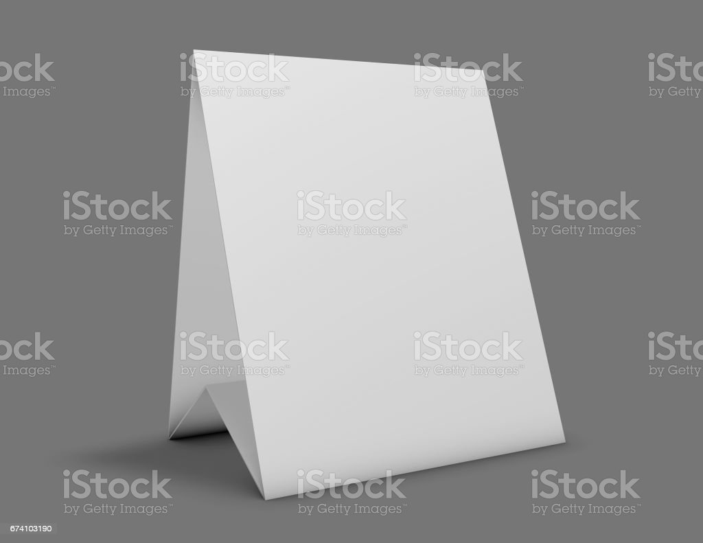 Blank standing advertisement cardboard or place card. royalty-free blank standing advertisement cardboard or place card stock vector art & more images of advertisement