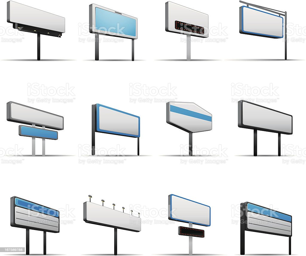 Blank Store Signs royalty-free stock vector art