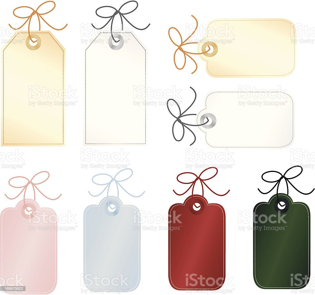 Blank Tags to Personalize royalty-free stock vector art