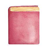 Blank vertical standing book template.