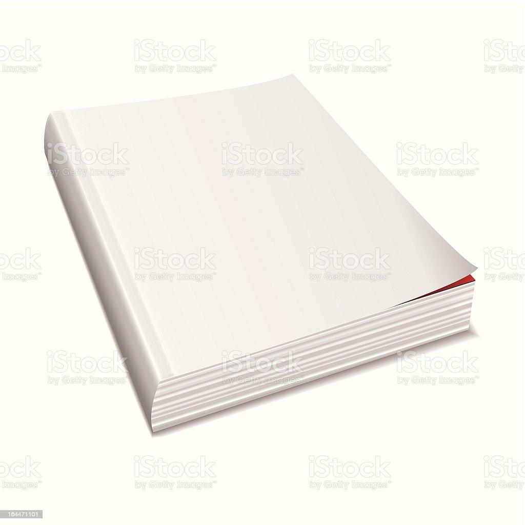 Blank white paper magazine vector art illustration