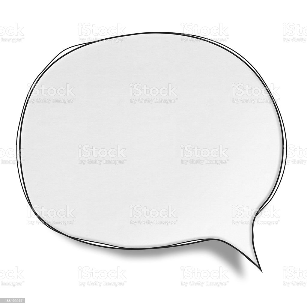 Blank White Speech Bubbles (Clipping Path) vector art illustration