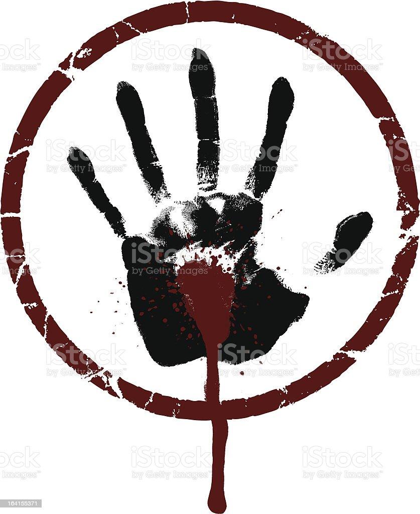 Bleeding Hand vector art illustration