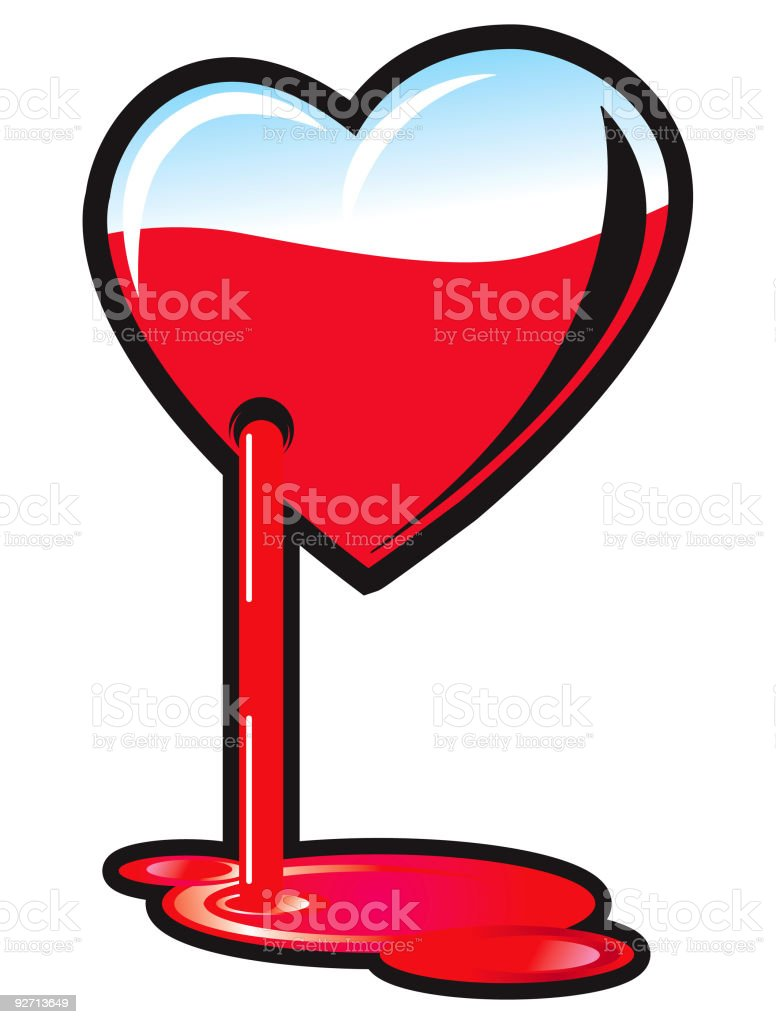 Bleeding heart stock vector art 92713649 istock hate heart shape human blood symbol animal heart bleeding buycottarizona