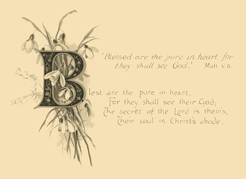 Blessed are the Pure in Heart - biblical quotation
