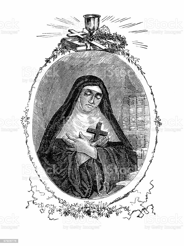 Blessed Marie of the Incarnation royalty-free blessed marie of the incarnation stock vector art & more images of 17th century style