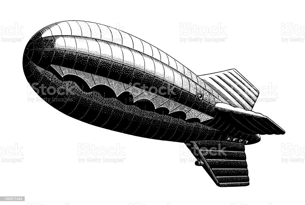 blimp vector art illustration