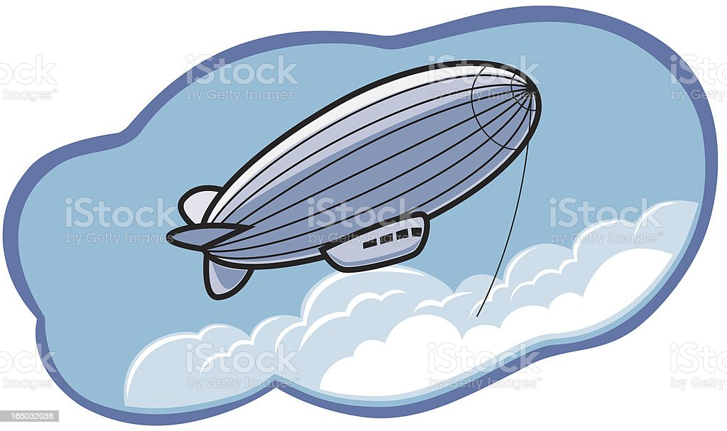 Blimp in The Clouds royalty-free stock vector art