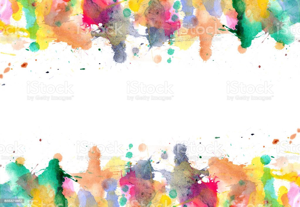 Blobs - watercolour paints splatters on paper art abstract background vector art illustration