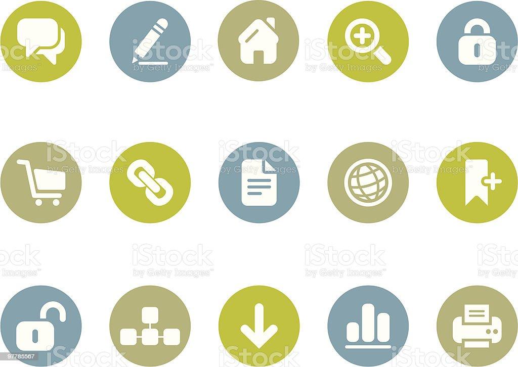 Blogging + Internet icons vector art illustration