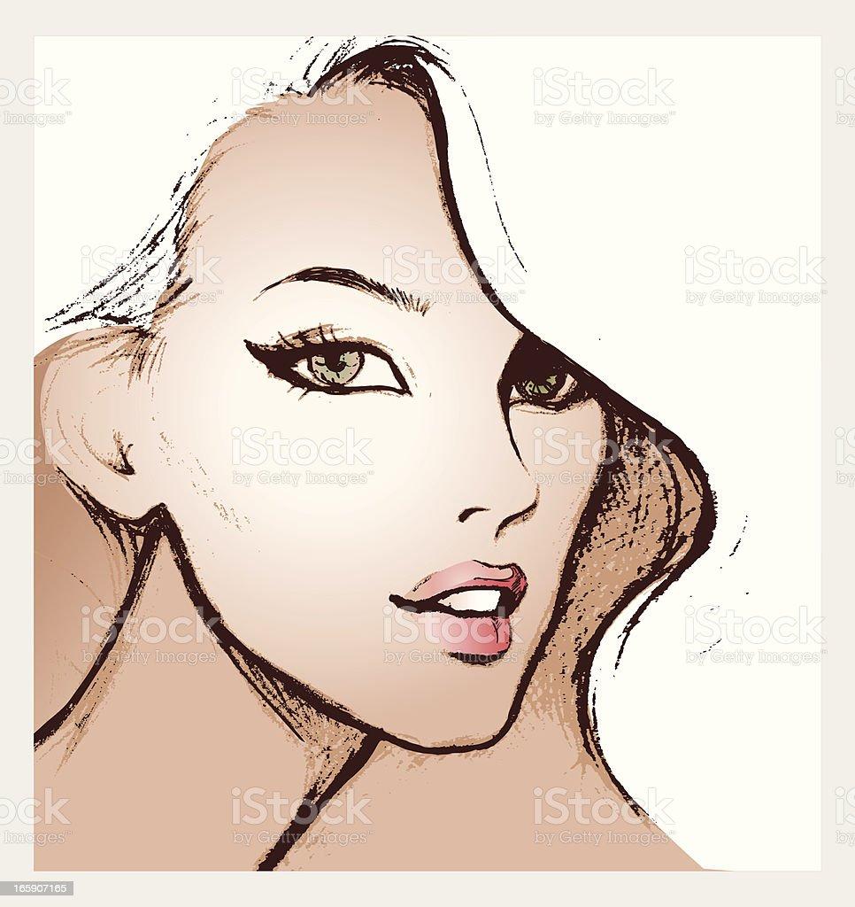 Blond vector art illustration