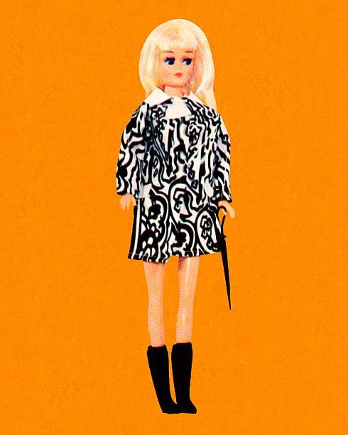 Usa Miniskirt rubia muñeca barbie - ilustración de arte vectorial