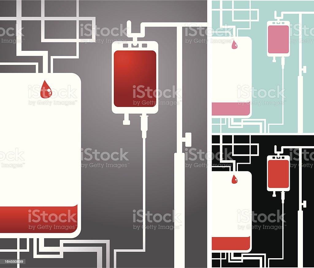 La donación de sangre abstracto - ilustración de arte vectorial