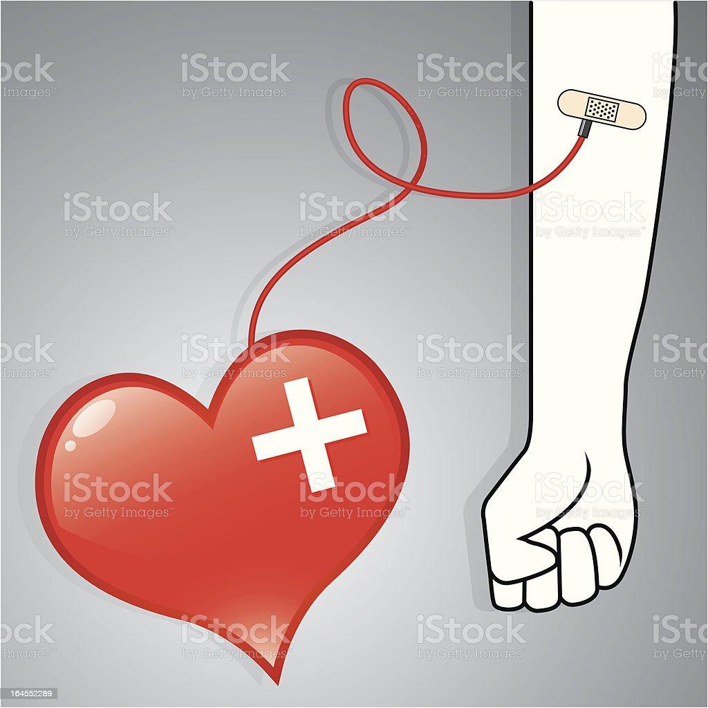Donación de sangre - ilustración de arte vectorial