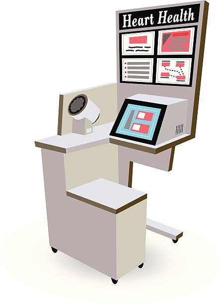 Blood Pressure Machine vector art illustration