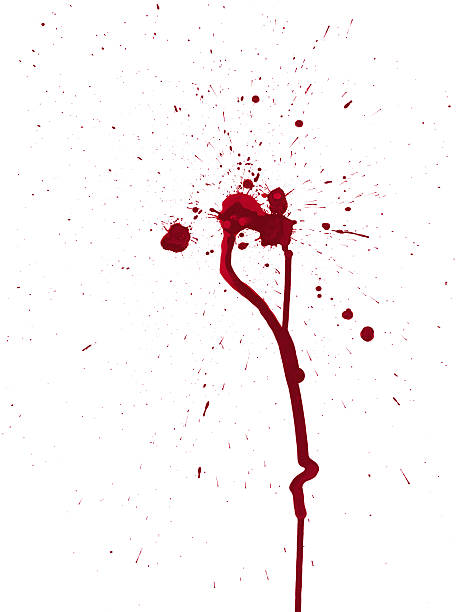 Blood Splatters vector art illustration