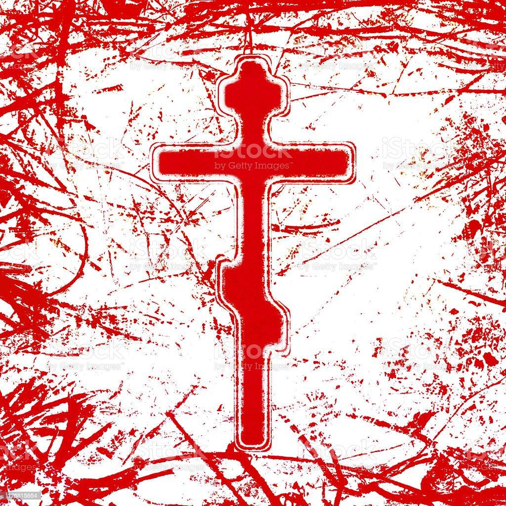 bloody cross vector art illustration