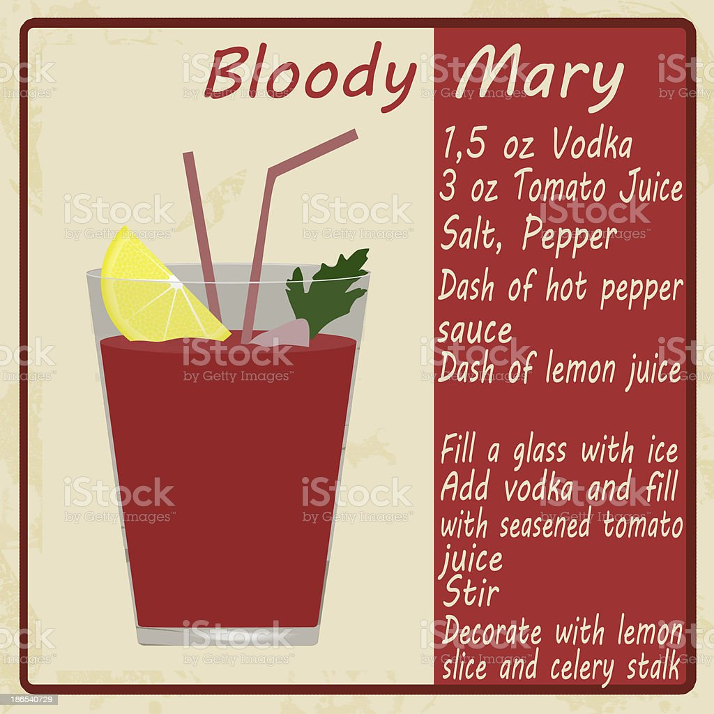 Bloody Mary cocktail royalty-free bloody mary cocktail stock vector art & more images of backgrounds