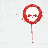 Skull graffiti with blood splatters. All design elements are layered and grouped. Drops are in different layers. In zip files you can find aics3 and hi-res jpg files as well.