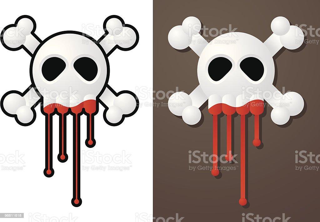 Bloody skull - Royaltyfri Död - Koncept vektorgrafik