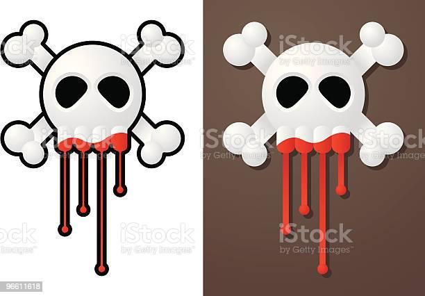 Bloody Skull-vektorgrafik och fler bilder på Död - Koncept