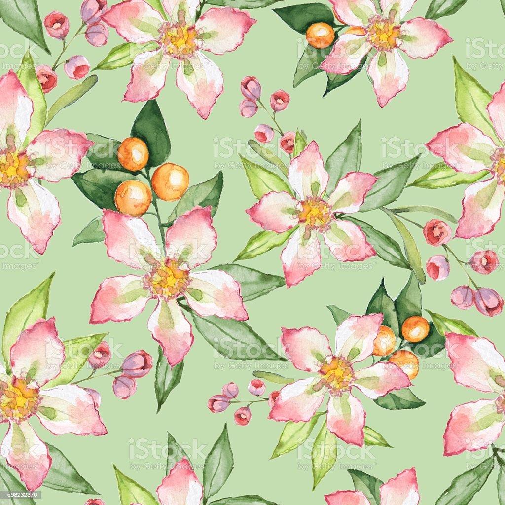 Blooming garden. Floral seamless pattern 20 ilustração de blooming garden floral seamless pattern 20 e mais banco de imagens de colorido royalty-free