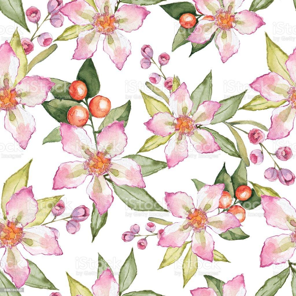 Blooming garden. Floral seamless pattern 7 ilustração de blooming garden floral seamless pattern 7 e mais banco de imagens de colorido royalty-free