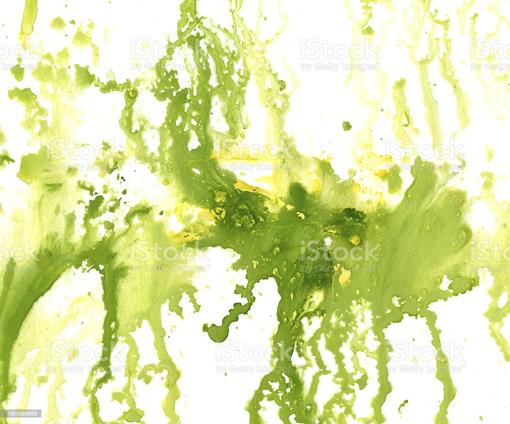 blot of  yellow-green paint royalty-free stock vector art