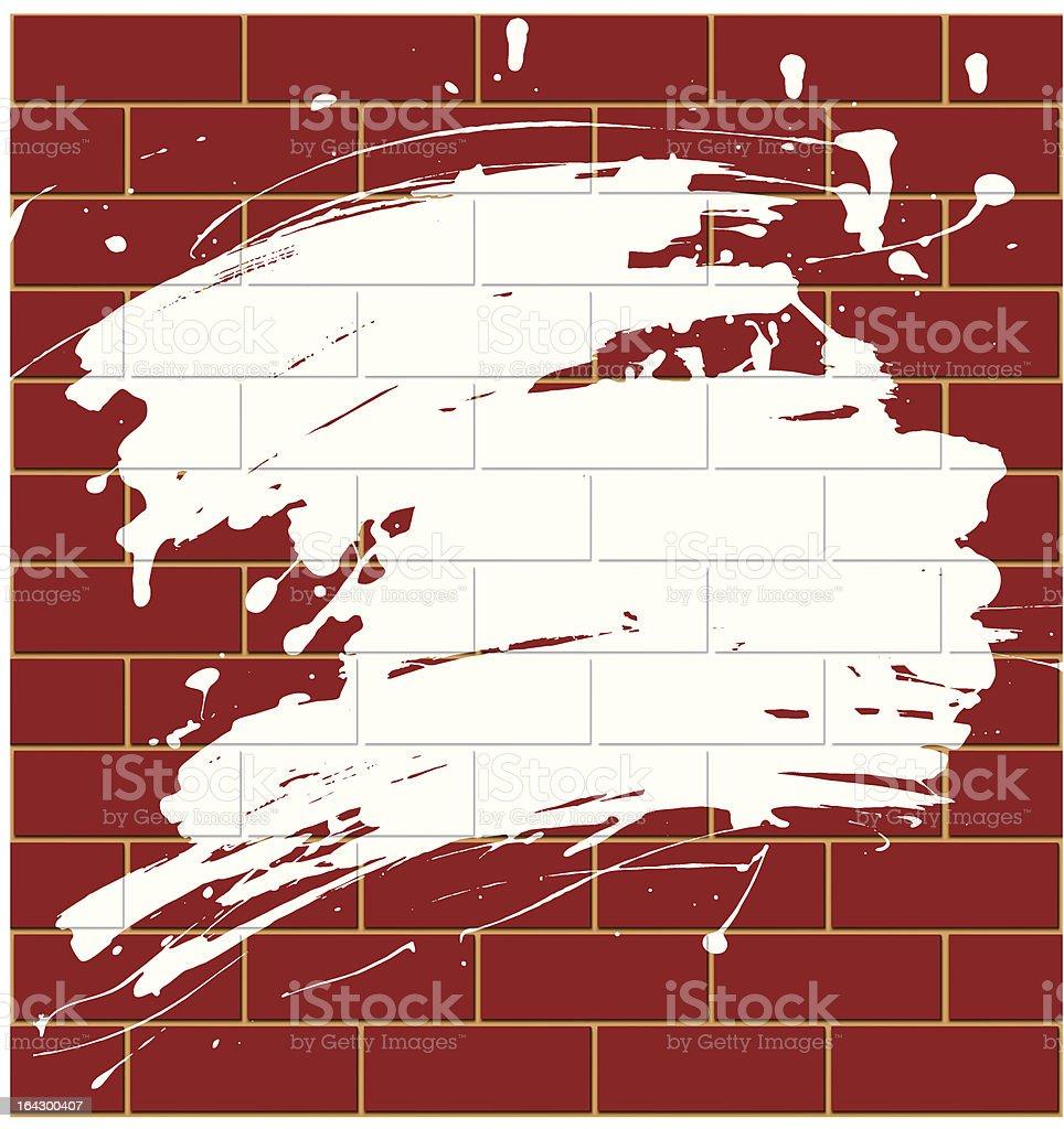 Blot on a brick wall royalty-free stock vector art