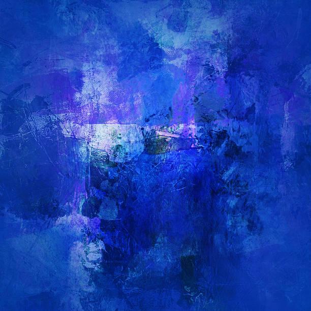 Blau abstrakt auf Leinwand – Vektorgrafik