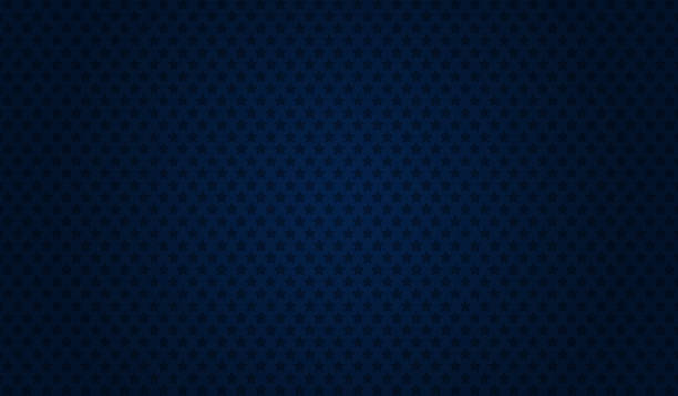 Blue abstract starry background Stars pattern on dark blue background. dark blue stock illustrations