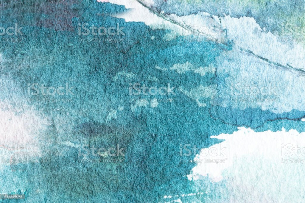 Blue abstract watercolor macro texture background. Hand painted watercolor background vector art illustration