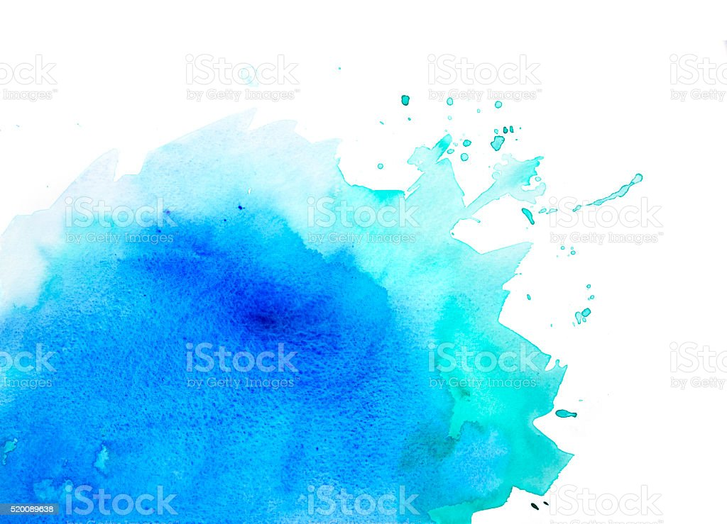 Blue and green watercolor background vector art illustration