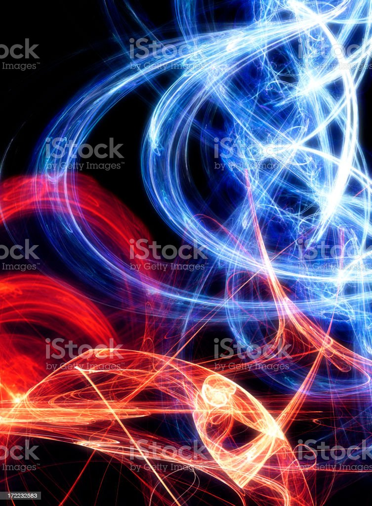 Blue and Red Energy vector art illustration