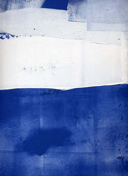 stockillustraties, clipart, cartoons en iconen met blue and white abstract - texture