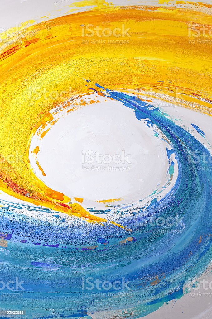 Blue and yellow paint. vector art illustration