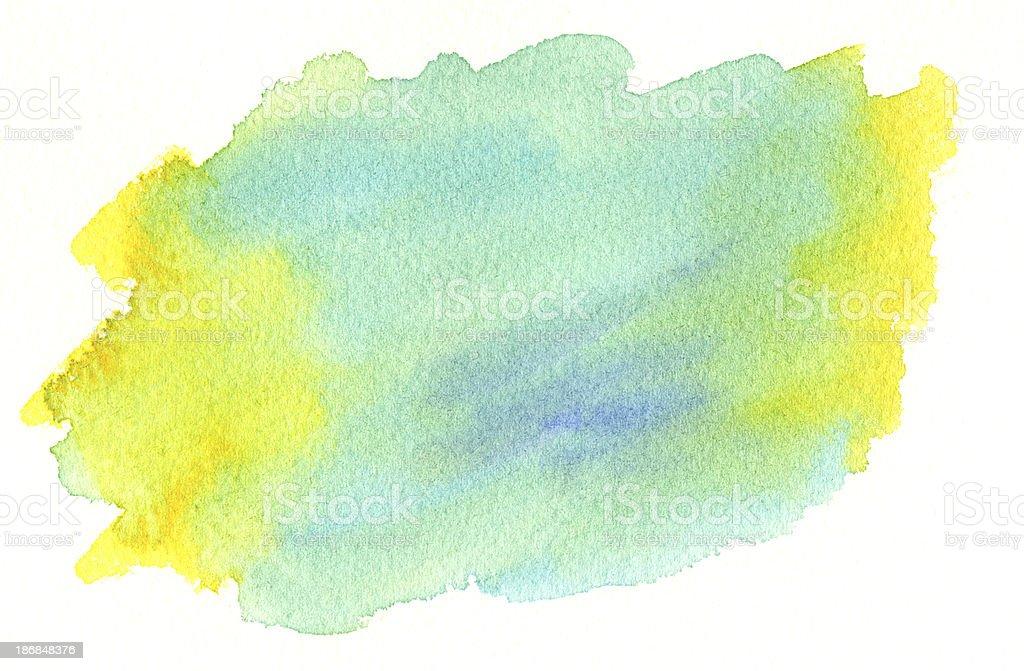 ブルー、イエローのウォッシュ ベクターアートイラスト