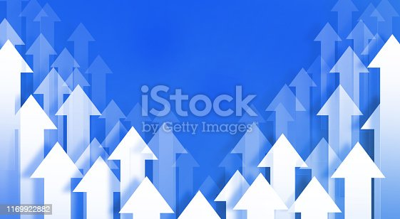 118386322 istock photo Blue arrows background 1169922882
