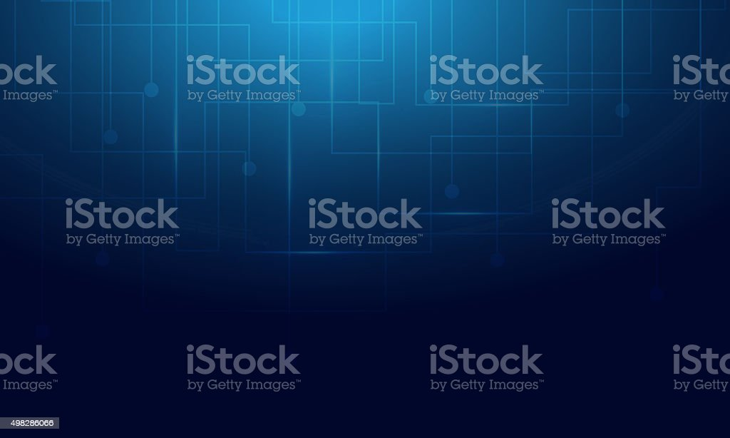 Blue Background abstract with lighting lines vector art illustration