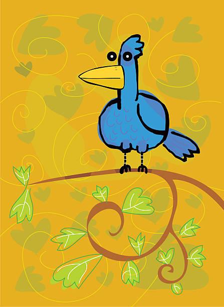 Blue Bird vektorkonstillustration