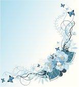 Blue Bouquet decoration - more: