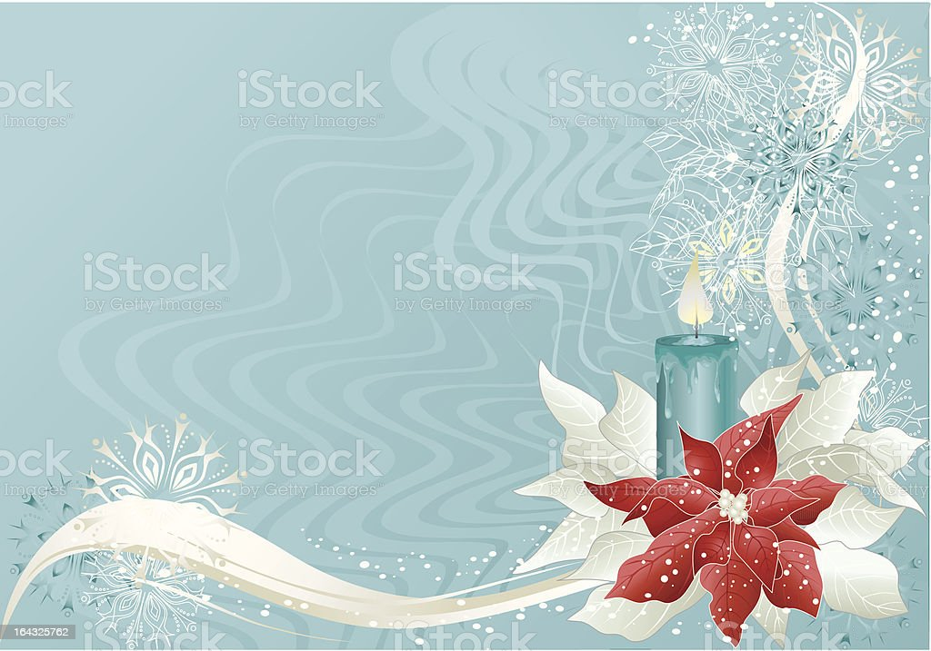 blue christmas background royalty-free stock vector art