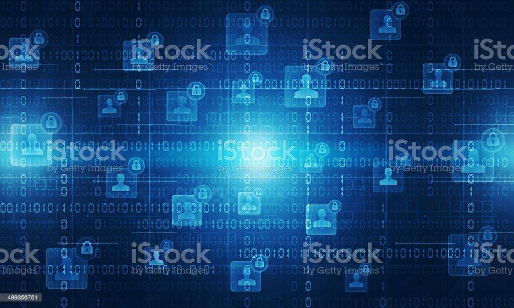 Blue digital technology background vector art illustration