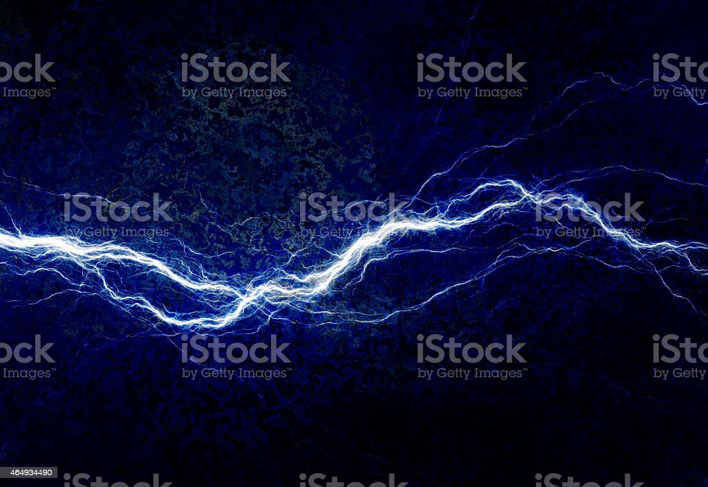 Blue electric lighting vector art illustration